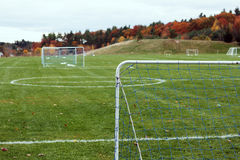Youth Soccer Field. Soccer field for recreational youth games Royalty Free Stock Image