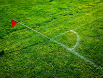 Youth soccer football field corner Stock Photo