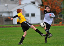 Youth soccer game Royalty Free Stock Image