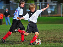 Youth soccer game Royalty Free Stock Photo