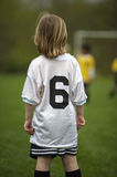 Youth Soccer Game. Young Girl at Youth Soccer Game Stock Image