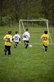 Youth Soccer Game. White Team ready to Score Stock Photography