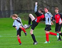 Youth soccer Kick Royalty Free Stock Photo
