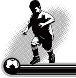 Youth Soccer Player Royalty Free Stock Images