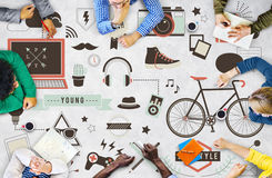 Youth Social Media Technology Lifestyle Concept Stock Photos