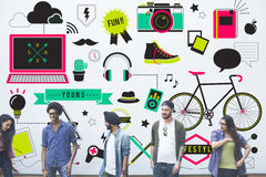 Youth Social Media Technology Lifestyle Concept Royalty Free Stock Photo
