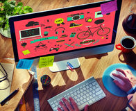 Youth Social Media Technology Lifestyle Concept Royalty Free Stock Images