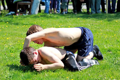 Youth in sports - traditional wrestling Royalty Free Stock Photos
