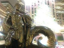 Youth Statue in front of Rockefeller Center. Stock Image