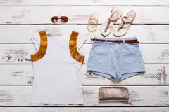 Youth summer outfit for a girl. Royalty Free Stock Photography