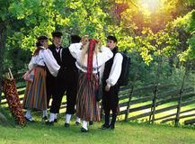 Youth in traditional estonian clothes Royalty Free Stock Photos