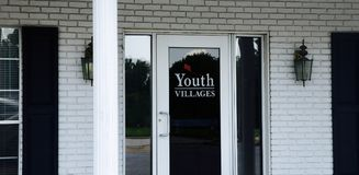 Youth Villages Organization Door Front Royalty Free Stock Image