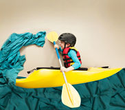 Youth whitewater kayaker. Stock Photography