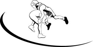 Youth Wrestlers Stock Photo