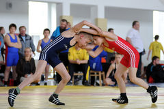 Youth wrestling action Stock Photography