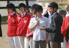 Youthful competitions on concur Royalty Free Stock Photo