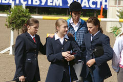 Youthful competitions on concur Stock Photography