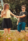 Youthful couple spending time together. Royalty Free Stock Photos