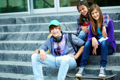 Youthful friends Stock Image