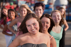 Youthful Group of Teen Girls Royalty Free Stock Photography