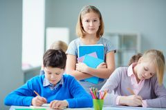 Youthful learner Stock Images