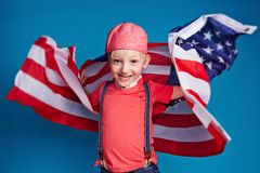 Youthful patriot Royalty Free Stock Photo