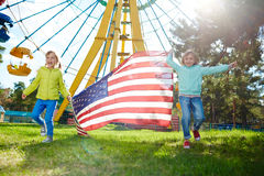 Youthful patriots Stock Photography