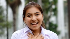 Youthful Peruvian Female In Love Stock Image