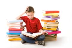 Youthful reader Royalty Free Stock Images