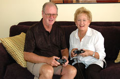 Youthful seniors royalty free stock photos