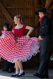 Youths from California show a specific folk dance 4 Royalty Free Stock Photography