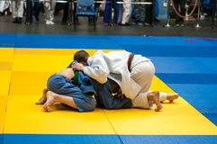 The youths involved in Judo Stock Images