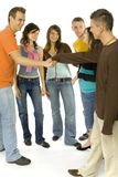 Youths' meeting Stock Photos