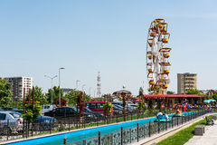Youths Public Amusement Park View Stock Image