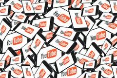 Youtube应用程序手机社会媒介 库存照片