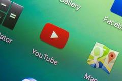 YouTube应用 免版税图库摄影