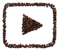 Youtube象在白色背景的 免版税库存照片