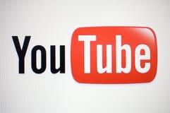 youtube логоса стоковое изображение rf