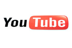 Youtube. A well known web site Royalty Free Stock Images