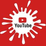 Youtube baner vektor illustrationer