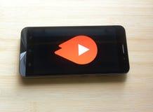 YouTube gaat app royalty-vrije stock fotografie