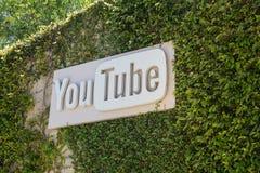 Youtube-Hauptsitze lizenzfreie stockfotos