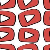Youtube kanalsymboler som märker uppsättningen vektor illustrationer