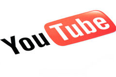 Youtube logo stock photography
