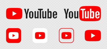 Free YouTube Logo. Icons Of YouTube, Video Hosting That Provides Users With Services For Storing, Delivering And Displaying Video. Stock Images - 194272984
