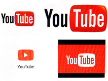 YouTube logos Stock Images
