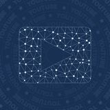 Youtube network symbol. Appealing constellation style symbol. Rare network style. Modern design. Youtube symbol for infographics or presentation Stock Photography