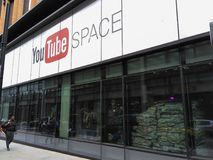 Youtube Space in London, exterior front facade of building.