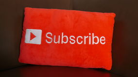 YouTube subscribe button stock video