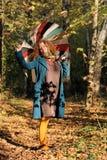 yoyng женщины зонтика стоковые изображения
